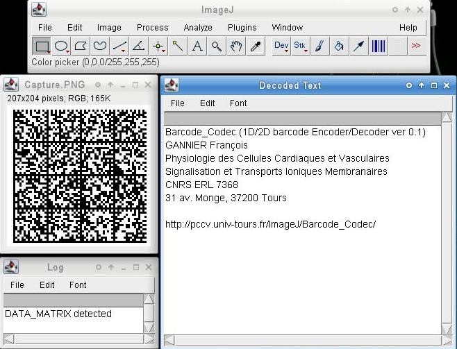 1D/2D barcode Encoder/Decoder plugin for ImageJ
